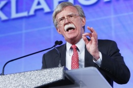 Former United Nations Ambassador John Bolton speaks at the Southern Republican Leadership Conference in Oklahoma City on Friday, May 22, 2015. (AP Photo/Alonzo Adams)