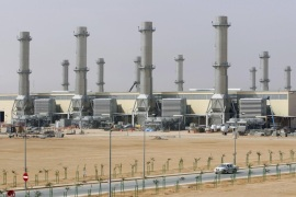 A general view of power plant number 10 at Saudi Electricity Company's Central Operation Area, south of Riyadh, April 27, 2012. Saudi Arabia is likely to burn less crude in its power plants this summer thanks to rising output from dedicated gas fields and gas that would be associated with any increase in oil output to make up for lower Iranian production. Picture taken April 27, 2012. To match Analysis SAUDI-CRUDE/GAS REUTERS/Fahad Shadeed   (SAUDI ARABIA – Tags: ENERGY BUSINESS)