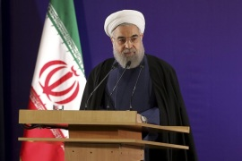 In this photo released by official website of the office of Iranian Presidency, Iran's President Hassan Rouhani addresses election officials in Tehran, Iran, Thursday, Jan. 21, 2016. Iran's president lobbied on Thursday for more free and fair elections in Iran, saying moderate and reformist political factions should also be allowed to run in next month's parliamentary elections. Rouhani's speech was a stab at Iran's constitutional watchdog, which has disqualified large numbers of moderates and reformists from running in the Feb. 26 vote. (Iranian Presidency Office via AP)