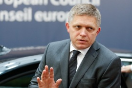 Slovakian Prime Minister Robert Fico arrives at EU Summit in Brussels, Belgium, 15 October 2015. EU Heads of State or Government  gather to focus on migration. The completion of the Economic and Monetary Union and the state of play on the UK referendum are also topics to be discussed.