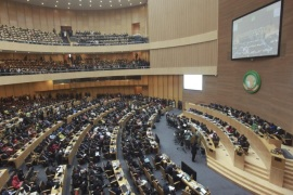 A general view of the 26th African Union Summit at the African Union Headquarters in Addis Ababa, Ethiopia, 30 January 2016. While the Summit's official theme is human rights in Africa, African leaders are meeting to discuss whether to deploy AU's 5,000- strong peacekeeping forces to troubled Burundi in a bid to end the armed crisis in the country despite Burundi's strong opposition.