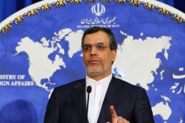 The Iranian Foreign Ministry's new spokesman Hossein Jaber Ansari addresses journalists during his first media conference following his appointment as the minitsry's new spokesperson, in Tehran, Iran, 14 December 2015. Media reported that he said if the current trend between Iran and world powers continues, Iran would expect ythe implementation of the nuclear agreement within one month by mid-January 2016.