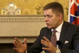 Slovakia's Prime Minister Robert Fico speaks during an interview with Reuters in Bratislava, Slovakia, February 22, 2016. It is likely the numbers of migrants coming to Greece from Turkey will not drop in the coming weeks despite a European Union agreement and the EU should take steps to prepare new options, Fico said on Monday.  REUTERS/David W Cerny