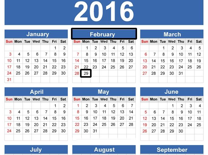 2016 سنة كبيسة تعوض فبراير بعض النقص