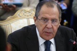 Russian Foreign Minister Sergei Lavrov speaks during a session of the Russian-Arabic forum of cooperation in Moscow, Russia, 26 February 2016.