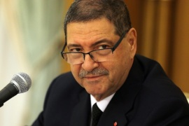 Tunisian Prime Minister Habib Essid leads an emergency cabinet meeting in Tunis,Tunisia, 08 March 2016. The death toll from clashes between Tunisian security forces and unidentified insurgents near the border with Libya is 54, the Interior Ministry said a day earlier. The clashes broke out when gunmen attempted to storm military and security barracks and other sites at dawn Monday in Begardene, near the Libyan border. Tunisia has experienced a series of deadly attacks during the past year. The Islamic State terrorist group, which is active in Libya, has claimed responsibility for some of the attacks, including a shooting spree that killed 21 tourists and a police officer at the Bardo museum in the heart of Tunis.