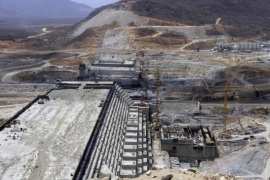 A general view of Ethiopia's Grand Renaissance Dam, as it undergoes construction, is seen during a media tour along the river Nile in Benishangul Gumuz Region, Guba Woreda, in Ethiopia March 31, 2015. According to a government official, the dam has hit the 41 percent completion mark. Picture taken March 31, 2015. REUTER/Tiksa Negeri