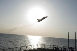 An U.S. Navy picture shows what appears to be a Russian Sukhoi SU-24 attack aircraft flying over the U.S. guided missile destroyer USS Donald Cook in the Baltic Sea in this picture taken April 12, 2016 and released April 13, 2016.  Two Russian warplanes with no visible weaponry flew near the destroyer in what one U.S. official described as one of the most aggressive interactions in recent memory.  REUTERS/US Navy/Handout via Reuters  THIS IMAGE HAS BEEN SUPPLIED BY A THIRD PARTY. IT IS DISTRIBUTED, EXACTLY AS RECEIVED BY REUTERS, AS A SERVICE TO CLIENTS. FOR EDITORIAL USE ONLY. NOT FOR SALE FOR MARKETING OR ADVERTISING CAMPAIGNS