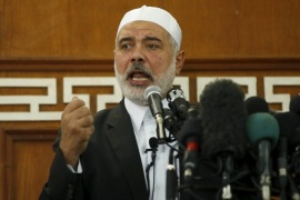 Hamas leader in Gaza Ismail Haniyeh delivers a sermon during Friday prayers in Gaza City October 9, 2015. Haniyeh called on Palestinians to step up their fight against Israel, describing the recent surge in violence in Jerusalem and the occupied West Bank as the beginning of a new uprising, or intifada. REUTERS/Mohammed Salem