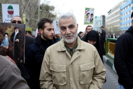 Commander of Iran's Quds Force, Qassem Soleimani attends an annual rally commemorating the anniversary of the 1979 Islamic revolution, in Tehran, Iran, Thursday, Feb. 11, 2016. The nationwide rallies commemorate Feb. 11, 1979, when followers of Ayatollah Khomeini ousted U.S.-backed Shah Mohammad Reza Pahlavi. (AP Photo/Ebrahim Noroozi)
