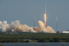 A SpaceX Falcon 9 rocket blasts off from Cape Canaveral, Florida April 8, 2016 in this handout photo provided by SpaceX.  REUTERS/SpaceX/Handout via Reuters   ATTENTION EDITORS –   THIS PICTURE WAS PROVIDED BY A THIRD PARTY. REUTERS IS UNABLE TO INDEPENDENTLY VERIFY THE AUTHENTICITY, CONTENT, LOCATION OR DATE OF THIS IMAGE. THIS PICTURE IS DISTRIBUTED EXACTLY AS RECEIVED BY REUTERS, AS A SERVICE TO CLIENTS. EDITORIAL USE ONLY. NO RESALES. NO ARCHIVE