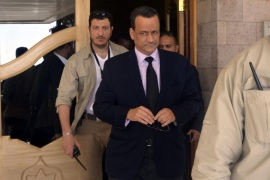United Nations envoy to Yemen Ismail Ould Cheikh Ahmed leaves Sana'a International Airport after a two-day visit to the war-torn country, in Sana'a, Yemen, 21 March 2016. According to reports, the UN envoy to Yemen held talks with Houthi rebels and representatives of former president Ali Abdullah Saleh, in a fresh attempt to resume the consultations with the Saudi-backed Yemeni government and put an end to the nearly year-long conflict in Yemen.