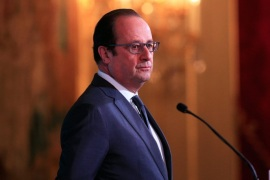 French President Francois Hollande gestures prior to deliver a speech to foreign ambassadors during a ceremony to extend New Year wishes at the Elysee Palace, in Paris, France, 21 January 2016.  EPA/THIBAULT CAMUS / POOL MAXPPP OUT