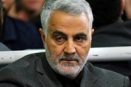 A handout picture made available on 28 March 2015 by the Iranian supreme leader's official website shows Iranian Quds Force Head, General Ghasem Soleimani, during a religious ceremony in Tehran, Iran, 27 March 2015. According to media reports, Soleimani's Quds Forces are leading Iraq's fight against Islamic State (IS) militants in Iraq.  EPA/LEADERS OFFICIAL WEBSITE / HANDOUT