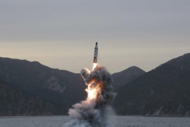(FILE) An undated file picture released by the North Korean Central News Agency (KCNA), the state news agency of North Korea, shows an 'underwater test-fire of strategic submarine ballistic missile' conducted at an undisclosed location in North Korea. North Korea has reportedly test-fired what seemed to be a submarine-launched ballistic missile in waters east of the Korean peninsula on 09 July 2016, media reports stated quoting South Korean officials. North Korea has