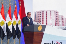 "Egyptian President Abdel Fattah al-Sisi speaks during the opening of the first and second phases of the housing project ""Long Live Egypt"", which focuses on development in the country's slums, at Al-Asmarat district in Al Mokattam area, east of Cairo, Egypt May 30, 2016 in this handout picture courtesy of the Egyptian Presidency. The Egyptian Presidency/Handout via REUTERS ATTENTION EDITORS – THIS IMAGE WAS PROVIDED BY A THIRD PARTY. EDITORIAL USE ONLY."