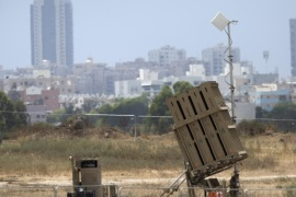 An Israeli Air Force 'Iron Dome' anti-missile interceptor system is placed outside the southern Israeli coastal city of Ashdod, 09 June 2015. Israel has recently deployed a total of five interceptor missile systems to prevent missile fired form the Gaza Strip landing on Israeli civilian centers in the south of the country.