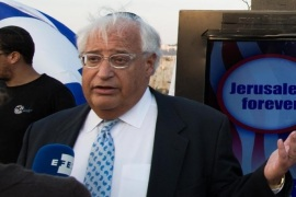 Trump's Israel advisor David Friedman (L) and Marc Zell chairman of Republicans overseas Israel (R) give interviews to the media during an election campaign event called 'Jerusalem forever' in Mount Zion, the Old city of Jerusalem, Israel, 26 October 2016 .
