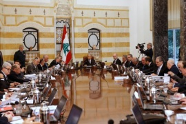 Lebanon's President Michel Aoun heads the first meeting of the new cabinet at the presidential palace in Baabda, Lebanon January 4, 2017. REUTERS/Mohamed Azakir