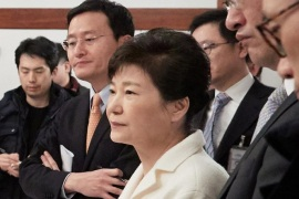 South Korean President Park Geun-hye listens to a reporter's question during a meeting with reporters at the Presidential Blue House in Seoul, South Korea, in this handout picture provided by the Presidential Blue House and released by Yonhap on January 1, 2017.    Blue House/Yonhap via REUTERS   ATTENTION EDITORS – THIS IMAGE HAS BEEN SUPPLIED BY A THIRD PARTY. SOUTH KOREA OUT. FOR EDITORIAL USE ONLY. NO RESALES. NO ARCHIVE.