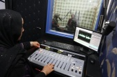 Afghan journalists work at Radio Sahar after its re-opening in Herat, Afghanistan, 07 December 2016. After months of closure the station operated again with the support of Herat women journalists. Radio Sahar is an independent women's community radio station in the province of Herat and one of the oldest radio in the province that began its broadcasting in 2003 to reach women and to educate them about their rights and how tackle in a male-dominated society. The station covers the city and some 40 kilometers around the city focuses on educational, entertainment and cultural programs.
