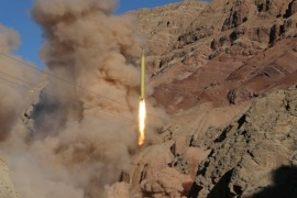 A ballistic missile is launched and tested in an undisclosed location, Iran, March 9, 2016. REUTERS/Mahmood Hosseini/TIMA   ATTENTION EDITORS – THIS IMAGE WAS PROVIDED BY A THIRD PARTY. REUTERS IS UNABLE TO INDEPENDENTLY VERIFY THE AUTHENTICITY, CONTENT, LOCATION OR DATE OF THIS IMAGE. IT IS DISTRIBUTED EXACTLY AS RECEIVED BY REUTERS, AS A SERVICE TO CLIENTS. FOR EDITORIAL USE ONLY. NOT FOR SALE FOR MARKETING OR ADVERTISING CAMPAIGNS. NO THIRD PARTY SALES. NOT FOR USE B