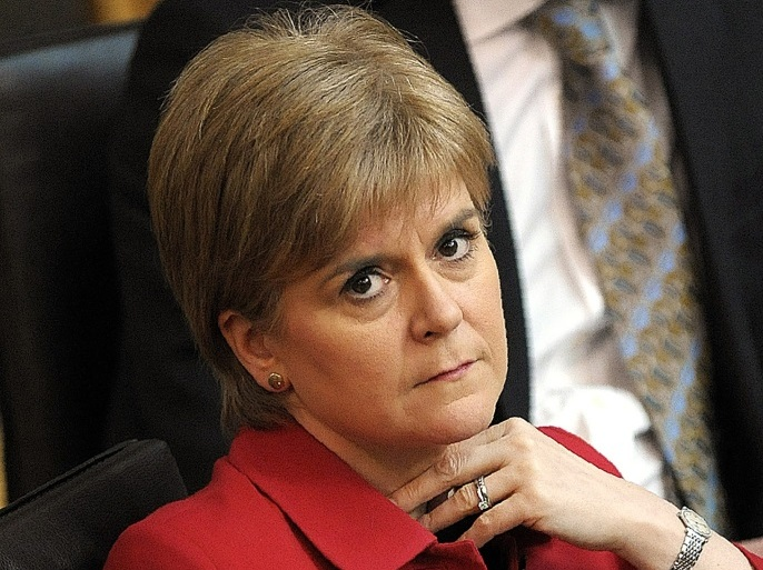 EDINBURGH, SCOTLAND – MARCH 28: Scottish First Minister Nicola Sturgeon listens in the chamber as she attends a debate on a second referendum on independence at Scotland's Parliament in Holyrood on March 28, 2017 in Edinburgh, United Kingdom. (Photo by Andy Buchanan – WPA Pool /Getty Images)