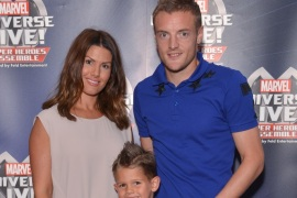 NOTTINGHAM, ENGLAND – SEPTEMBER 07:  Jamie Vardy with his wife Rebekah and their son attend the opening night of Marvel Universe LIVE! at Motorpoint Arena in Nottingham, where they experienced an epic live entertainment spectacular including Marvel Characters such as Spider-Man, Iron Man, Hulk, Thor, Black Widow and more on September 7, 2016 in Nottingham, England.  (Photo by Richard Stonehouse/Getty Images for Marvel Universe LIVE!)