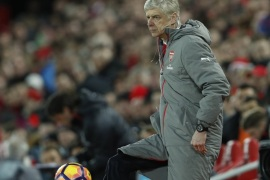 Britain Soccer Football – Liverpool v Arsenal – Premier League – Anfield – 4/3/17 Arsenal manager Arsene Wenger Action Images via Reuters / Lee Smith Livepic EDITORIAL USE ONLY. No use with unauthorized audio, video, data, fixture lists, club/league logos or