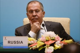epa06036606 Russia's Foreign Minister Sergey Lavrov attends a press conference during the BRICS (Brazil, Russia, India, China and South Africa) Foreign Ministers meeting in Beijing, China, 19 June 2017. The meeting is being held in advance of the 9th annual BRICS Summit in Xiamen, in September 2017.  EPA/WANG ZHAO / POOL