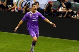 CARDIFF, WALES – JUNE 03:  In this handout image provided by UEFA, Cristiano Ronaldo of Real Madrid celebrates scoring his sides third goal during the UEFA Champions League Final between Juventus and Real Madrid at National Stadium of Wales on June 3, 2017 in Cardiff, Wales.  (Photo by Handout/UEFA via Getty Images)
