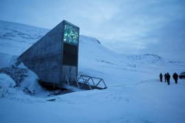 The entrance to the international gene bank Svalbard Global Seed Vault (SGSV) is pictured outside Longyearbyen on Spitsbergen, Norway, February 29, 2016. REUTERS/Heiko Junge/NTB Scanpix      ATTENTION EDITORS – THIS PICTURE WAS PROVIDED BY A THIRD PARTY. THIS PICTURE IS DISTRIBUTED EXACTLY AS RECEIVED BY REUTERS, AS A SERVICE TO CLIENTS. NORWAY OUT. NO COMMERCIAL OR EDITORIAL SALES IN NORWAY.