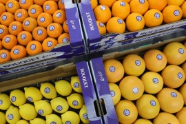 BERLIN, GERMANY – FEBRUARY 08:  Organic clementines, lemons, grapefruits and oranges lie on display at a Spanish producer's stand at the Fruit Logistica agricultural trade fair on February 8, 2017 in Berlin, Germany. The fair, which takes place from February 8-10, is taking place amidst poor weather and harvest conditions in Spain that have led to price increases and even rationing at supmermarkets for fresh vegetables across Europe.  (Photo by Sean Gallup/Getty Images)