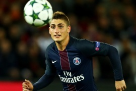 PARIS, FRANCE – OCTOBER 19:  Marco Verratti of PSG in action during the Group A, UEFA Champions League match between Paris Saint-Germain Football Club and Fussball Club Basel 1893 at Parc des Princes on October 19, 2016 in Paris, France.  (Photo by Dean Mouhtaropoulos/Getty Images)