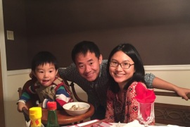 Xiyue Wang, a naturalized American citizen from China, arrested in Iran last August while researching Persian history for his doctoral thesis at Princeton University, is shown with his wife and son in this family photo released in Princeton, New Jersey, U.S. on July 18, 2017.    Courtesy Wang Family photo via Princeton University/Handout via REUTERS   ATTENTION EDITORS – THIS IMAGE WAS PROVIDED BY A THIRD PARTY.