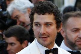 Cast member Shia LaBeouf poses on the red carpet after the screening of the film