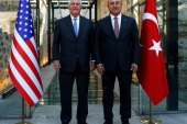 U.S. Secretary of State Rex Tillerson meets with Turkish Foreign Minister Mevlut Cavusoglu in Istanbul, Turkey, July 9, 2017. REUTERS/Murad Sezer