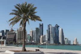 A general view taken on June 5, 2017 shows the corniche in Doha. Arab nations including Saudi Arabia and Egypt cut ties with Qatar, accusing it of supporting extremism, in the biggest diplomatic crisis to hit the region in years. / AFP PHOTO / STRINGER        (Photo credit should read STRINGER/AFP/Getty Images)