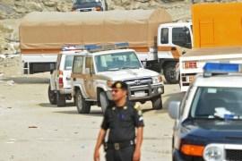 الشرطة السعودية في منطقة بمدينة جدة شهدت حادثا أمنيا عام 2017 (غيتي)