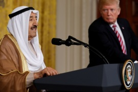 Kuwait's Emir Sabah Al-Ahmad Al-Jaber Al-Sabah (L) and U.S. President Donald Trump hold a news conference after their meetings at the White House in Washington, U.S. September 7, 2017. REUTERS/Jonathan Ernst