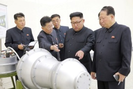 North Korean leader Kim Jong Un provides guidance on a nuclear weapons program in this undated photo released by North Korea's Korean Central News Agency (KCNA) in Pyongyang September 3, 2017.  KCNA via REUTERS    ATTENTION EDITORS – THIS PICTURE WAS PROVIDED BY A THIRD PARTY. REUTERS IS UNABLE TO INDEPENDENTLY VERIFY THE AUTHENTICITY, CONTENT, LOCATION OR DATE OF THIS IMAGE.  NOT FOR SALE FOR MARKETING OR ADVERTISING CAMPAIGNS. NO THIRD PARTY SALES. NOT FOR USE BY REU