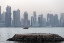 A general view taken on July 2, 2017 shows the corniche of the Qatari capital Doha. / AFP PHOTO / STR        (Photo credit should read STR/AFP/Getty Images)