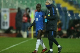 Soccer Football – 2018 World Cup Qualifications – Europe – Bulgaria vs France – Vasil Levski National Stadium, Sofia, Bulgaria – October 7, 2017   France's N'Golo Kante is substituted off after sustaining an injury       REUTERS/Marko Djurica