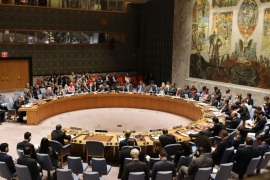 NEW YORK, NY – SEPTEMBER 28:  United Nations ambassadors and their aides  attend a U.N. Security Council meeting about the ongoing violence in Myanmar, against Rohingya Muslims  on September 28, 2017 in New York City. In what has been condemned as 'ethnic cleansing,' approximately 480,000 Rohingya Muslims have fled Myanmar for Bangladesh in recent weeks.  (Photo by Spencer Platt/Getty Images)