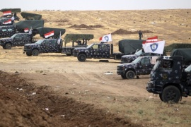 Iraqi forces gather at their camp on the front line on the edge of the northwestern town of Fishkhabur, near the borders with Syria and Turkey, on October 28, 2017.Since mid-October, Iraqi forces have reclaimed the entire oil-rich province of Kirkuk, stripping the Kurds of a major chunk of their oil revenues and dealing a crippling blow to their hopes of independence. / AFP PHOTO / AHMAD AL-RUBAYE        (Photo credit should read AHMAD AL-RUBAYE/AFP/Getty Images)