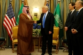 "U.S. President Donald Trump meets with Saudi Arabia""s Deputy Crown Prince and Minister of Defense Mohammed bin Salman (center L) at the Ritz Carlton Hotel in Riyadh, Saudi Arabia May 20, 2017. REUTERS/Jonathan Ernst"