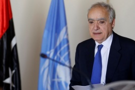 Ghassan Salame, U.N. Libya envoy, arrives for a meeting in Tunis, Tunisia September 26, 2017. REUTERS/Zoubeir Souissi