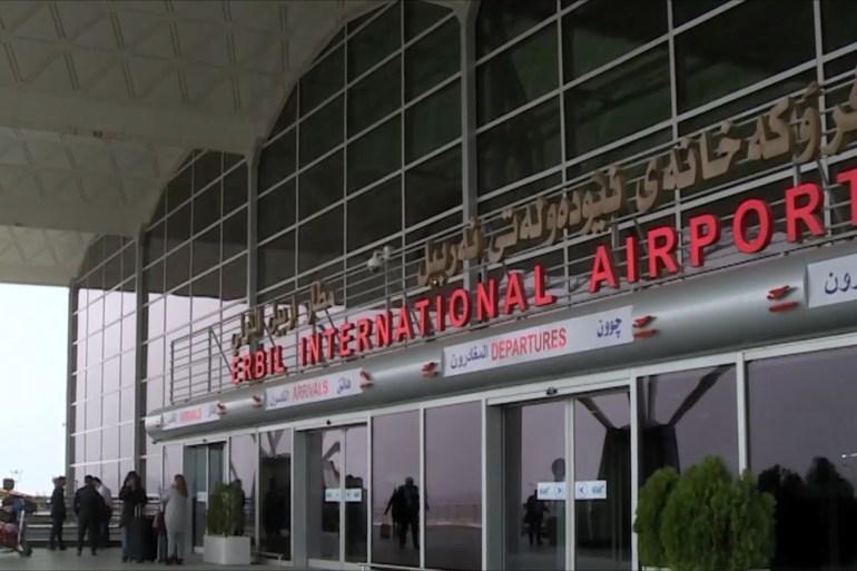 مطار أربيل تعرض لهجوم قبل نحو شهرين استهدف مجمعا عسكريا في المطار (الجزيرة)