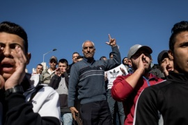 JERUSALEM, ISRAEL – DECEMBER 08:  Palestinians protest outside the Damascus Gate of the Old City after Friday prayer on December 8, 2017 in Jerusalem, Israel. At least 50 Palestinians have been wounded in clashes between Palestinian protestors and Israeli security forces in the West Bank and the Gaza Strip on Friday after thousands of protestors took to the streets in a second 'Day of Rage' following U.S. President Donald Trump's decision to recognize Jerusalem as Is
