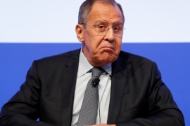 Russia Foreign Minister Sergei Lavrov attends the